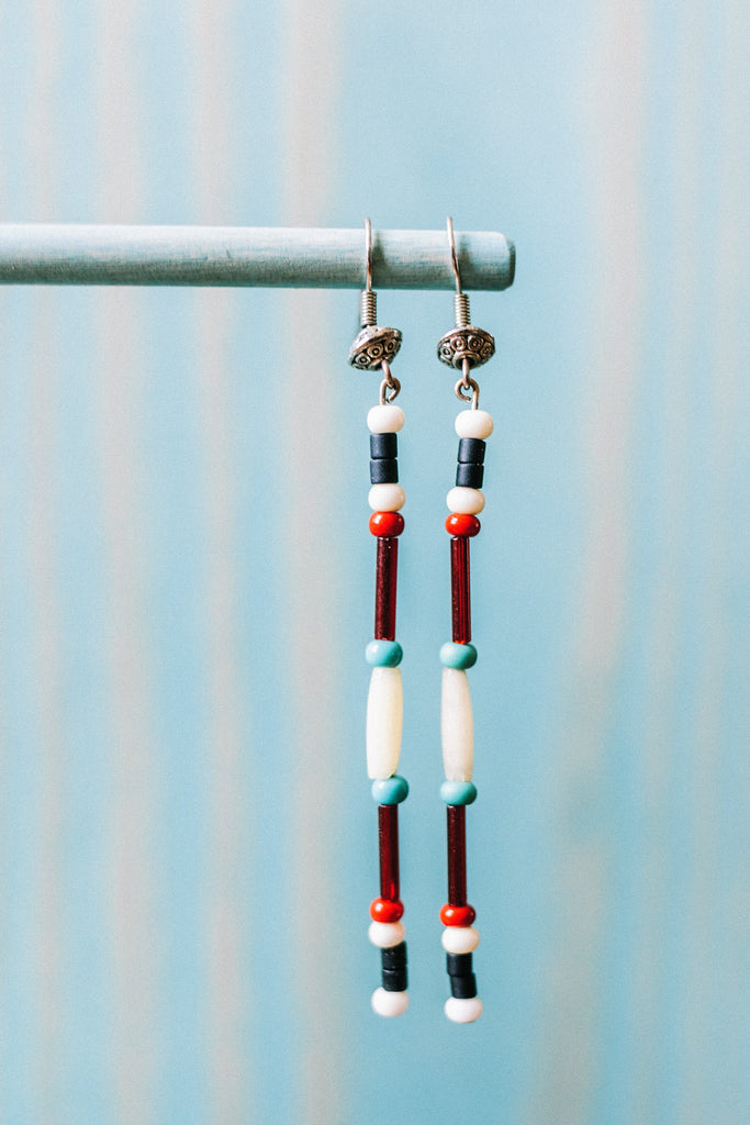 Coast Salish Colors Earring