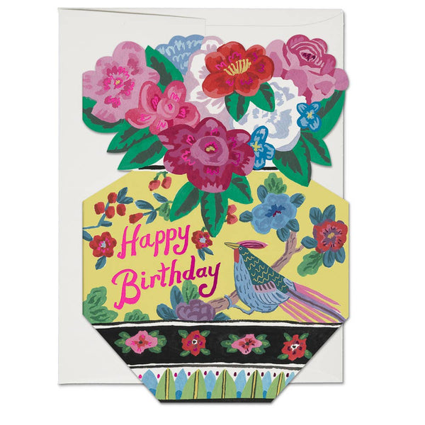 Ornate Flower Vase Card - Proper-Shops