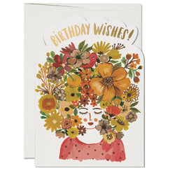Floral Tresses Card - Proper-Shops