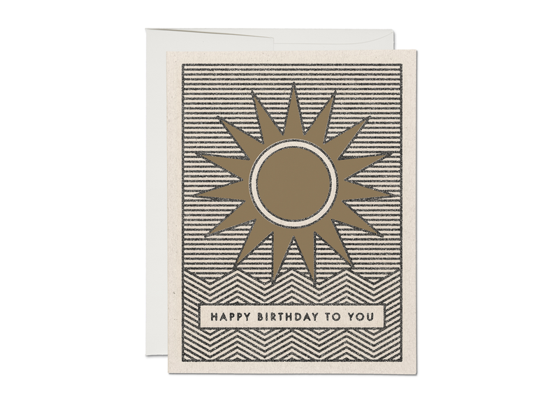 Sunshine Birthday Card - Proper-Shops