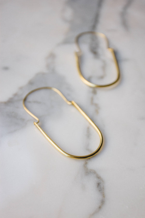 Brass U Hoops - Proper-Shops