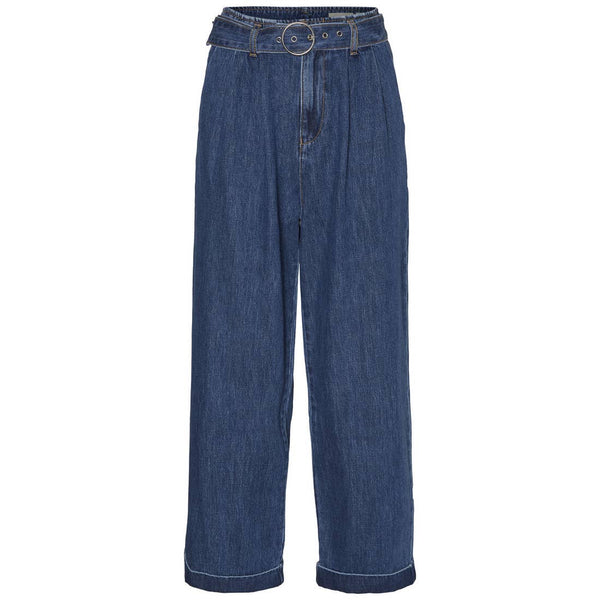 Kristina Relaxed Belted Denim Trousers - Proper-Shops