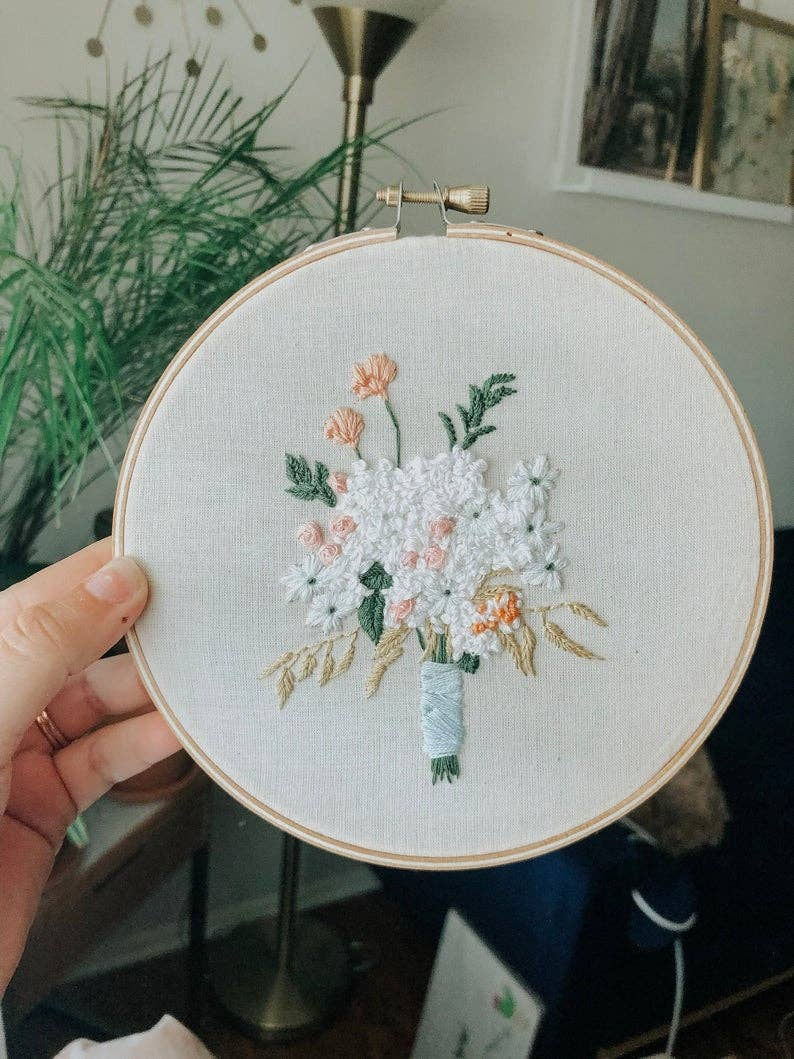 Bridal Floral Embroidery Kit - Proper