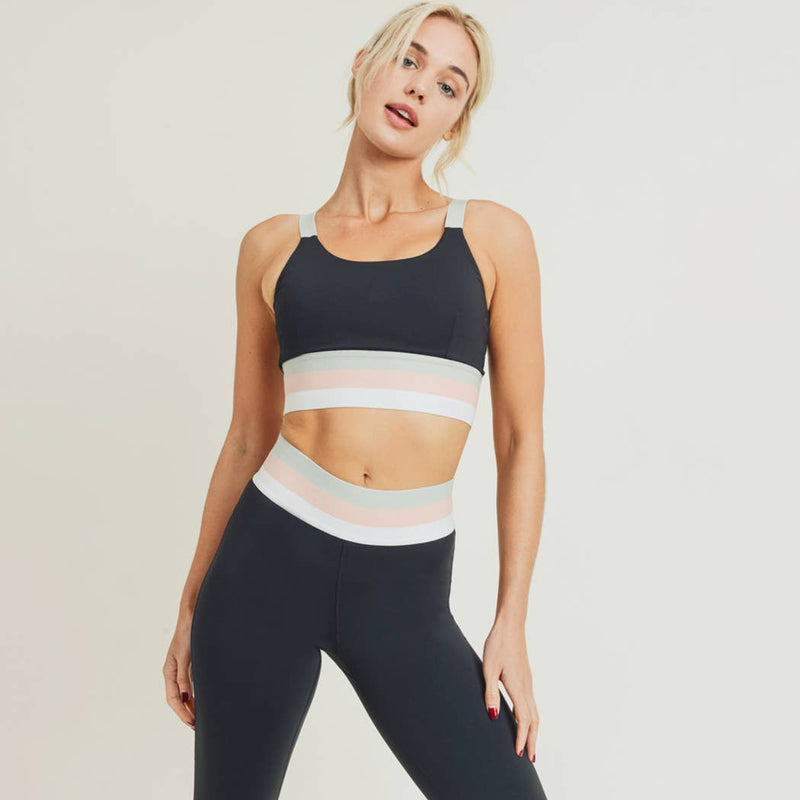 Tricolor Band Sports Bra - Proper-Shops