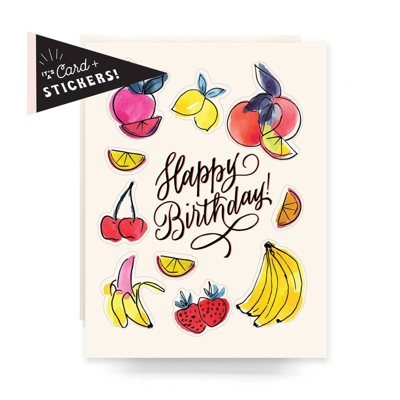 Sticker Sheet Card - Fruit Birthday - Proper