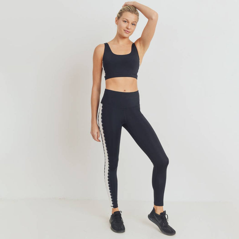 Art Deco Laser Cut High Waist Leggings - Proper-Shops