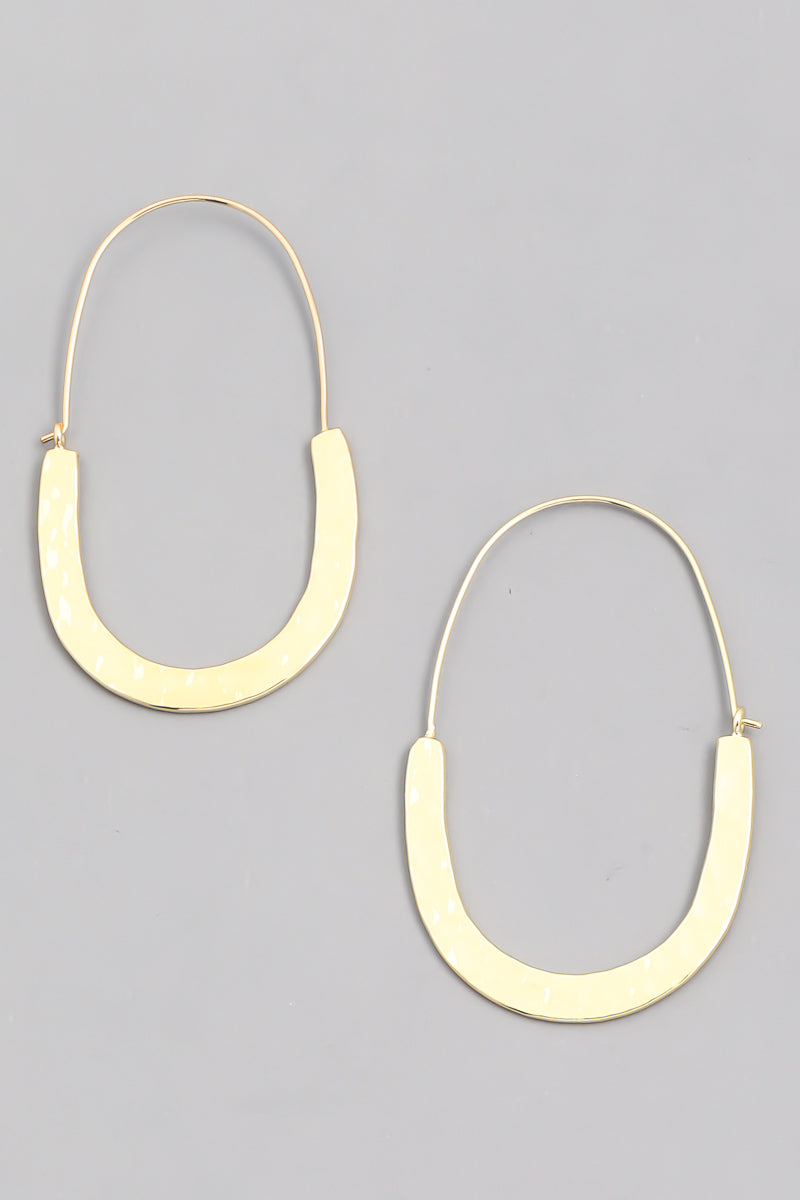 Hoop Drop Earring - Proper-Shops