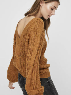 Mallie V-Back Sweater - Proper-Shops