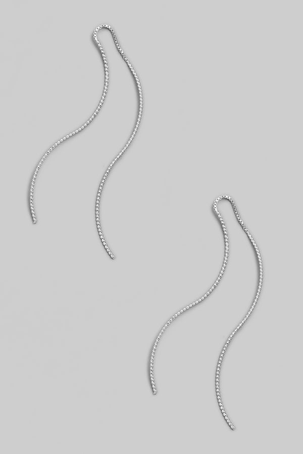 Wavy Threader Earring