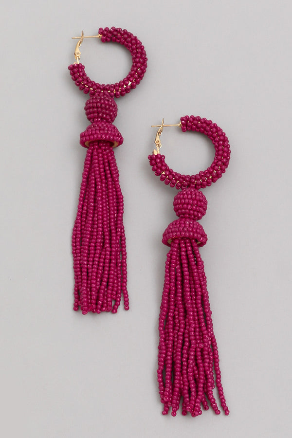 Berry Tassel Earrings