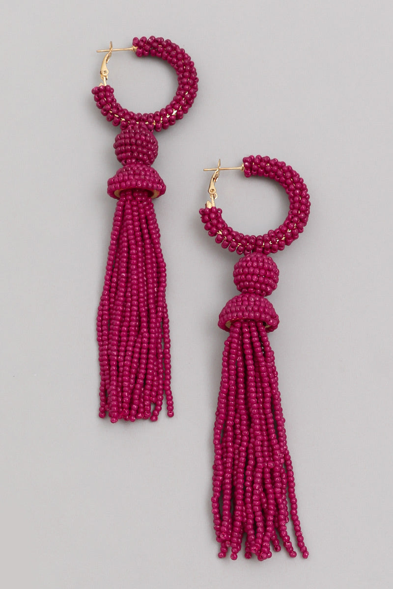 Berry Tassel Earrings - Proper-Shops