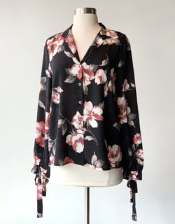 Floral Tie Sleeve Button Down - Proper