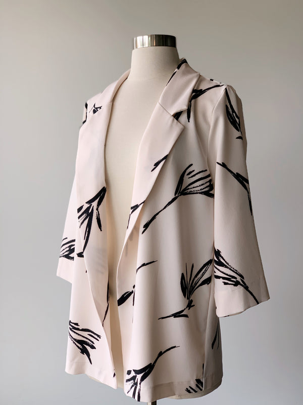 Abstract Ivory Jacket - Proper-Shops