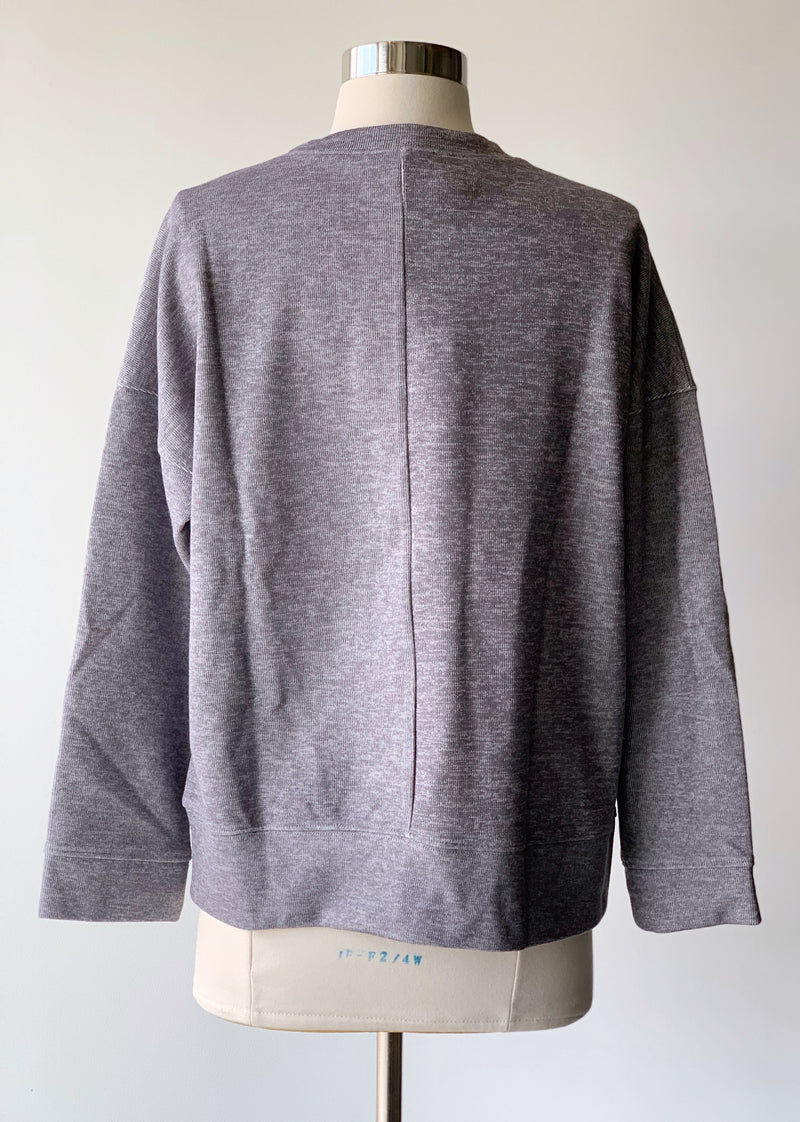 Grey French Terry Top - Proper-Shops