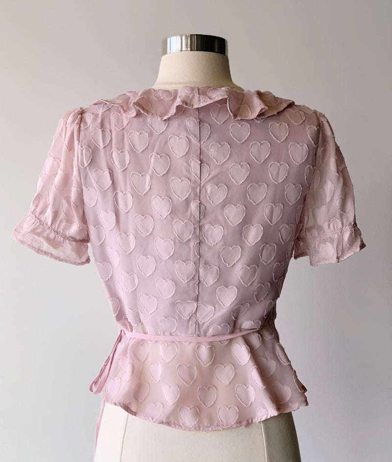 Lilac Heart Top - Proper-Shops