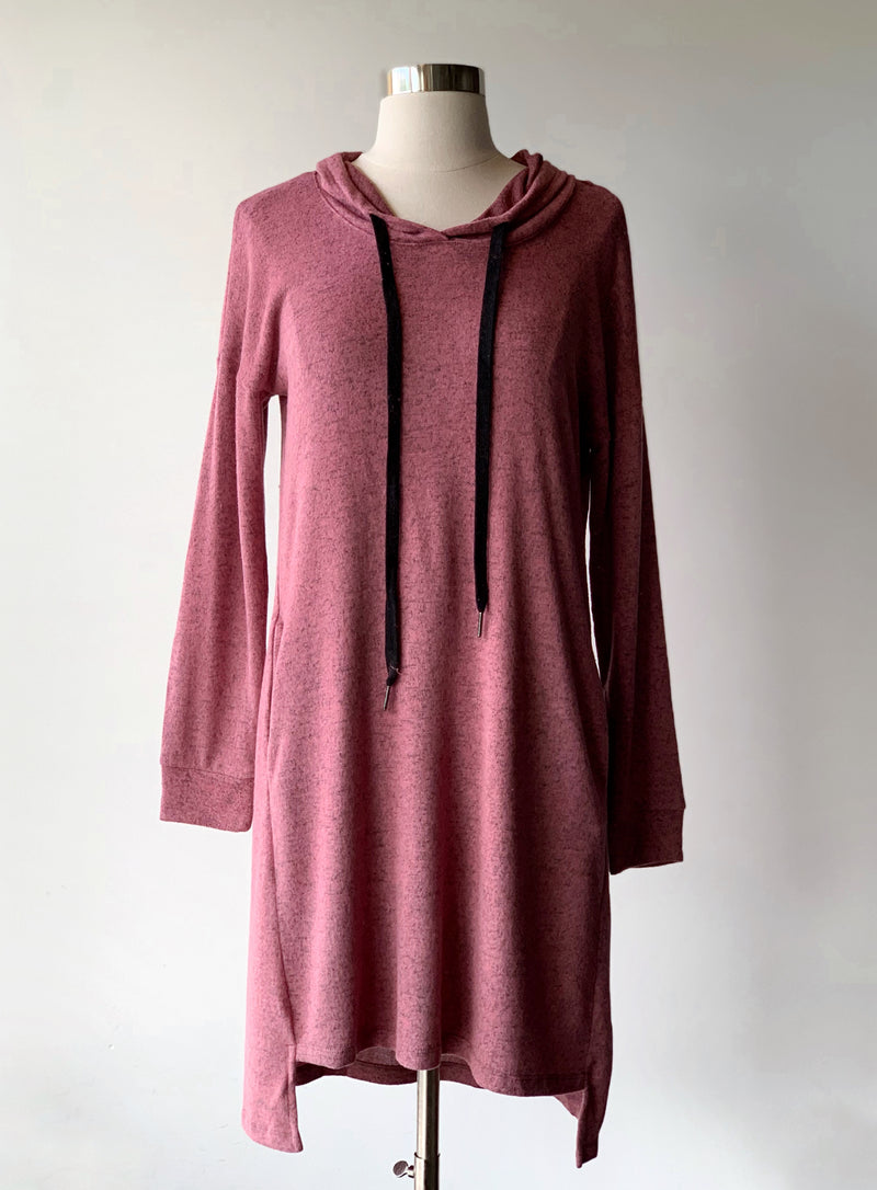 Brushed Hoodie Dress - Proper-Shops