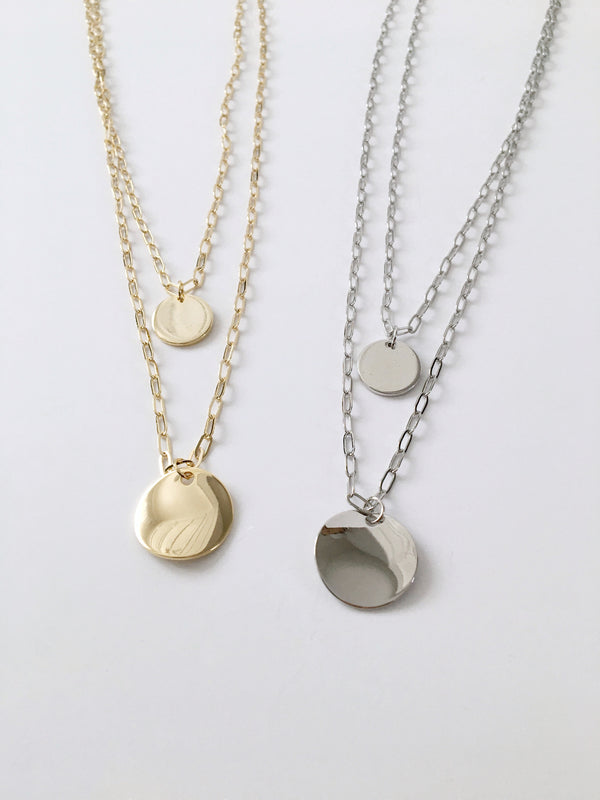 Two Circle Necklace Set