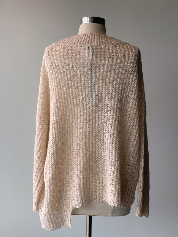 Vanilla Metallic Sweater - Proper-Shops