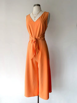 Orange Wide Leg Jumpsuit - Proper-Shops