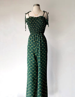 Green Tiger Jumpsuit - Proper-Shops