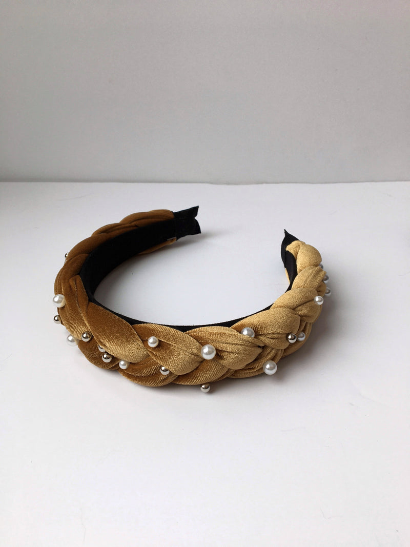 Braided Pearl Headband - Proper-Shops