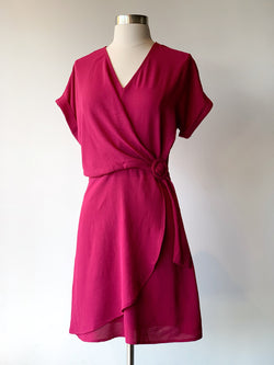 Berry Belted Dress