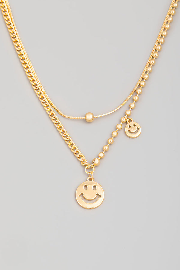 Smiley Layered Necklace