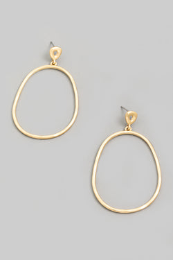 Abstract Oval Earrings - Proper-Shops