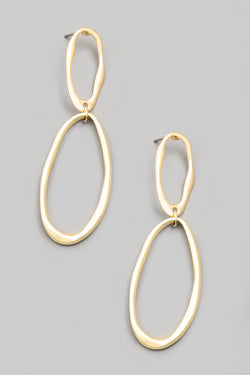 Linked Abstract Oval Earrings - Proper-Shops