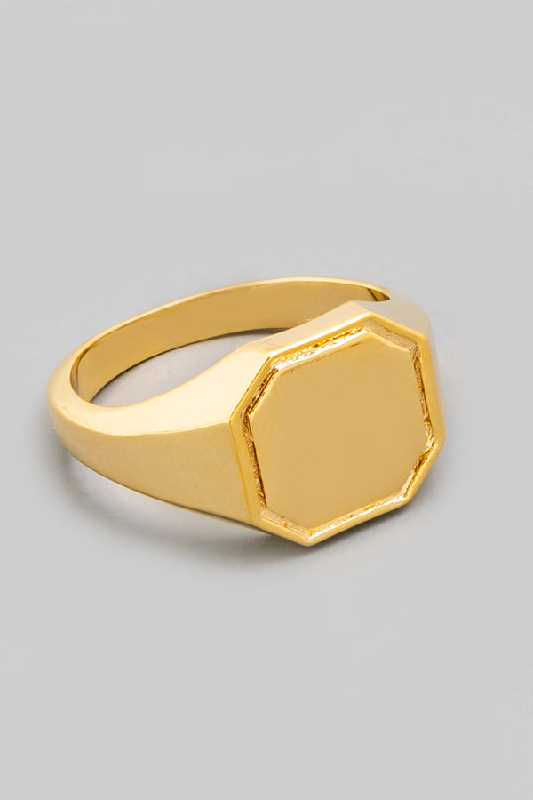 Octagon Signet Ring