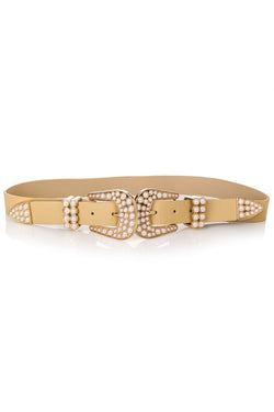 Pearl Studded Buckle Belt - Proper-Shops