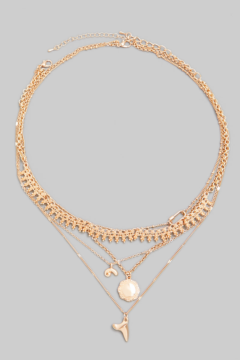 Trinket Layered Necklace - Proper-Shops