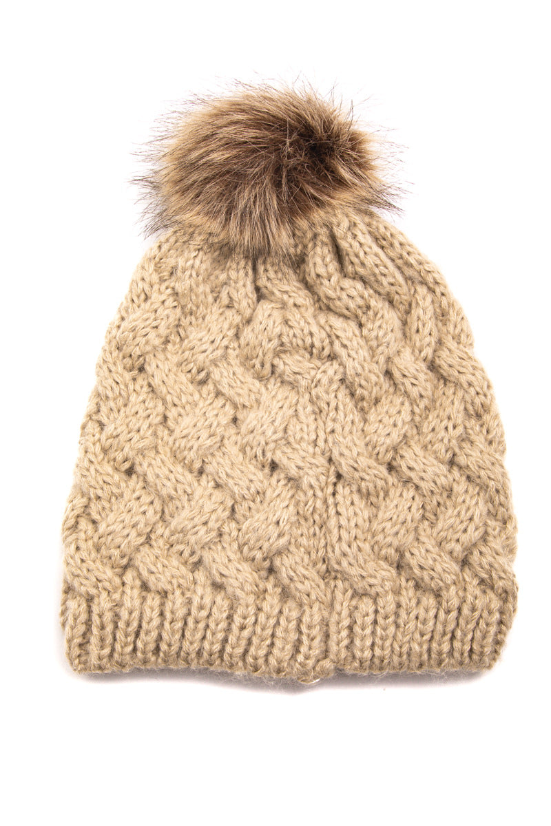 Winter Faux Fur Pom Beanie - Proper