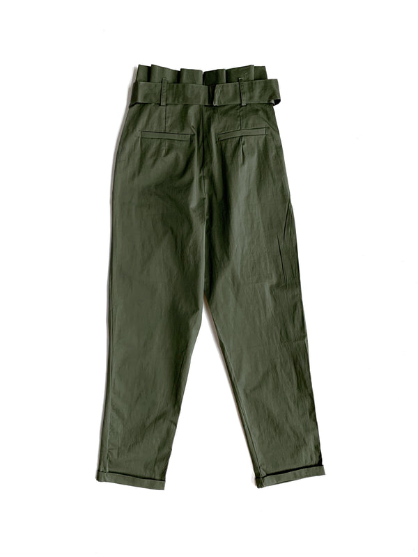 Olive Woven Pants