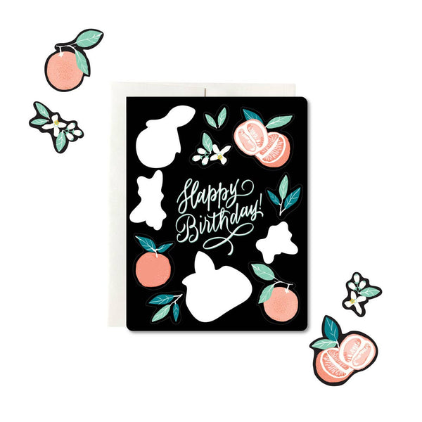 Sticker Sheet Card - Grapefruit Birthday - Proper-Shops