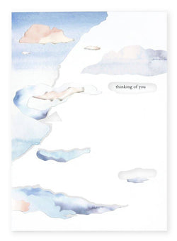Cloudy Thinking of You Card - Proper