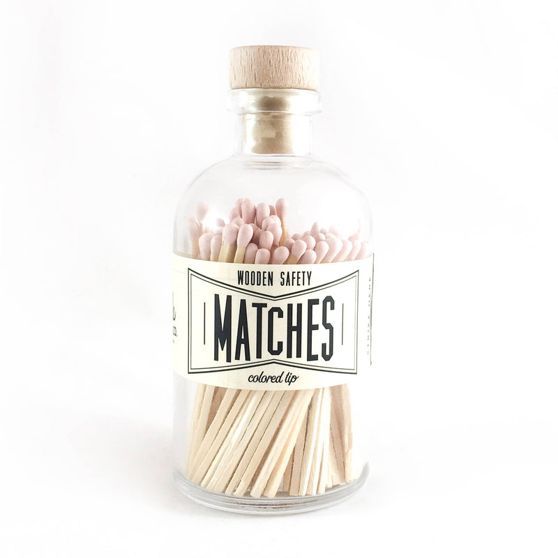 Light Pink Vintage Apothecary Matches - Proper-Shops