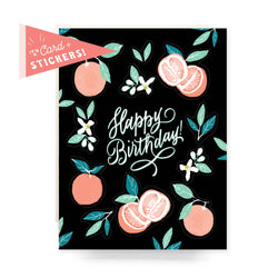 Sticker Sheet Card - Grapefruit Birthday - Proper