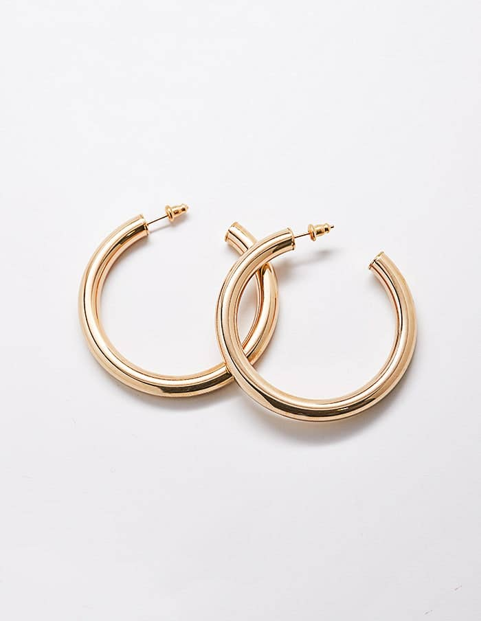 Gold Plated Hoops - Proper-Shops