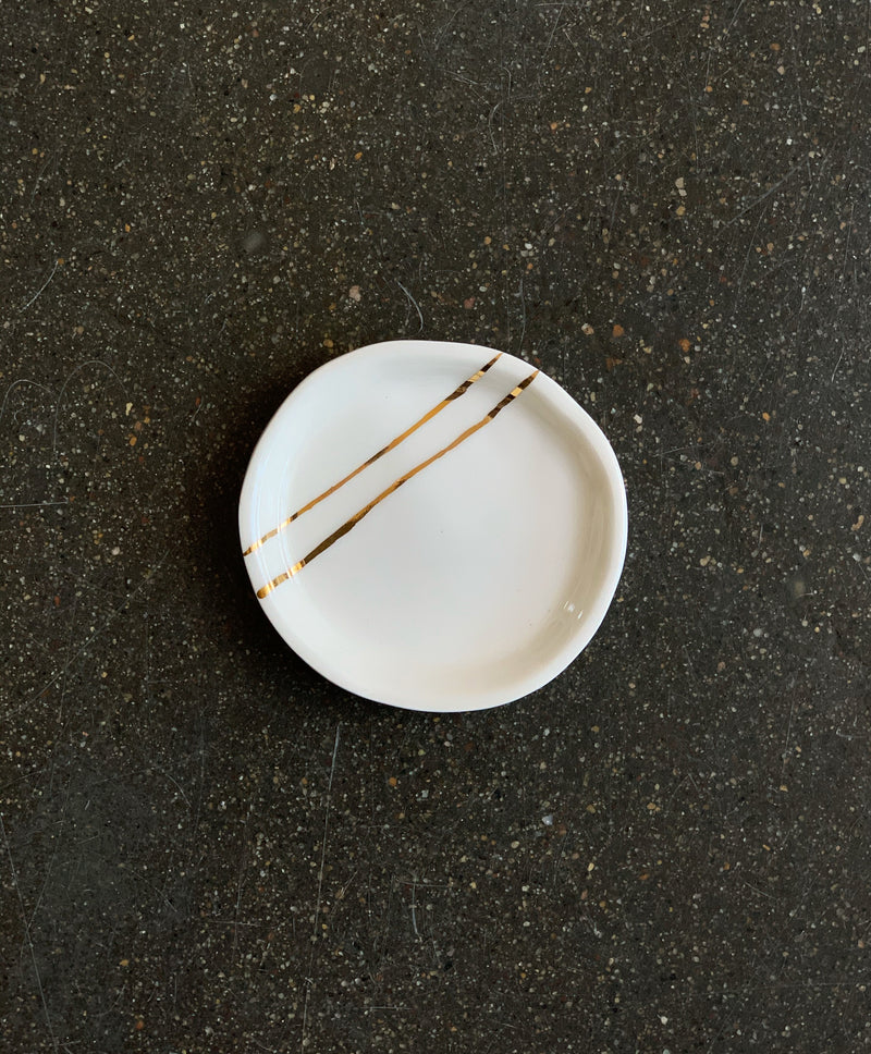 Gold Lines Jewelry Dish - Proper-Shops
