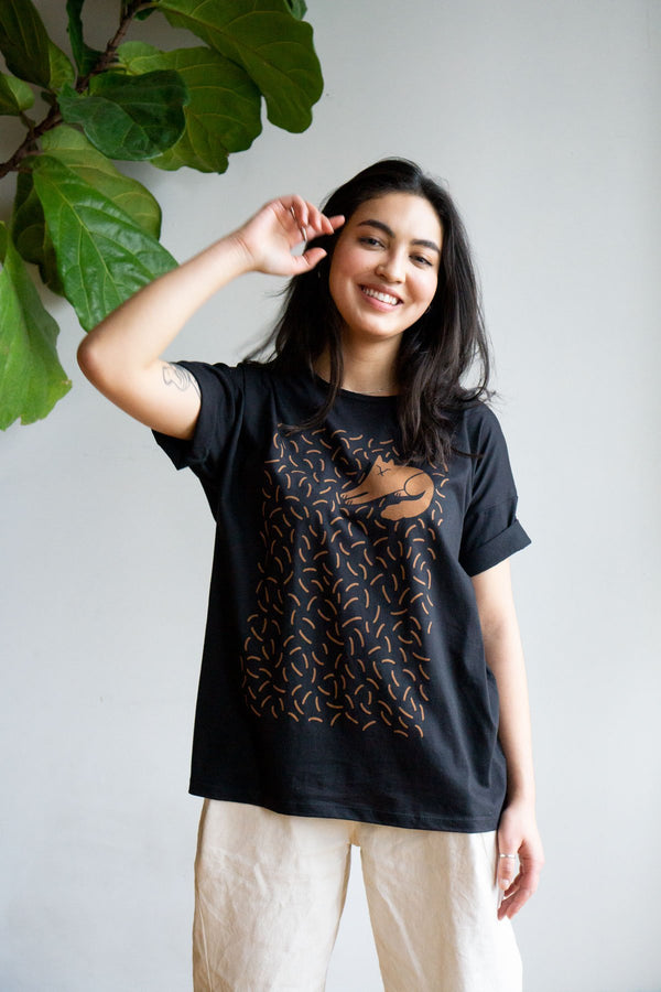 Cat Hair Everywhere Loose Tee - Proper-Shops