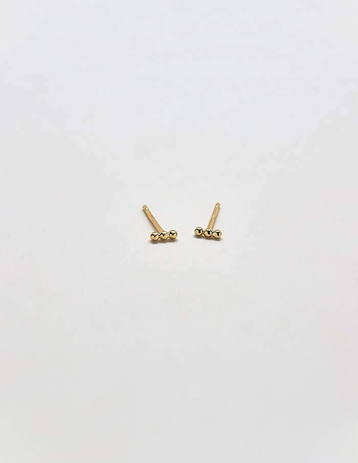 Mini Bead Bar Earring - Proper