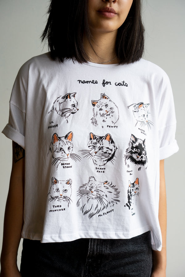Names for Cats Crop Tee - Proper-Shops