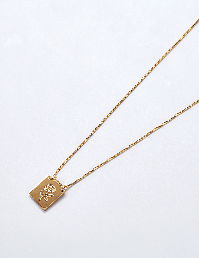 Gold Rose Necklace - Proper-Shops