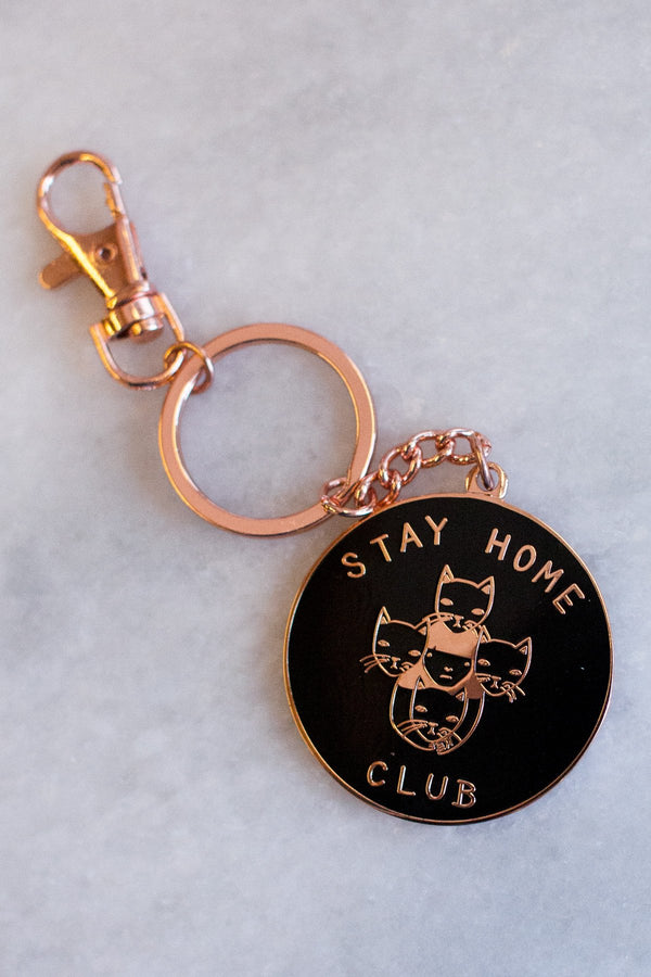 Stay Home Club Key Chain - Proper-Shops