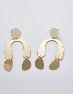 Abstract Gold Earrings - Proper-Shops