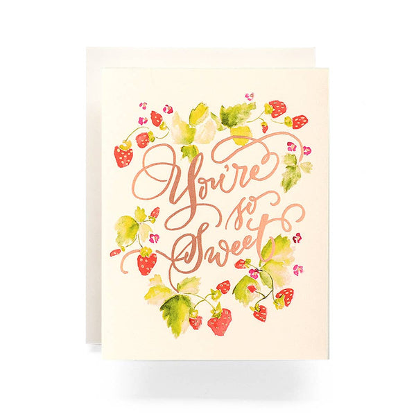 Sweet Strawberries Card - Proper-Shops