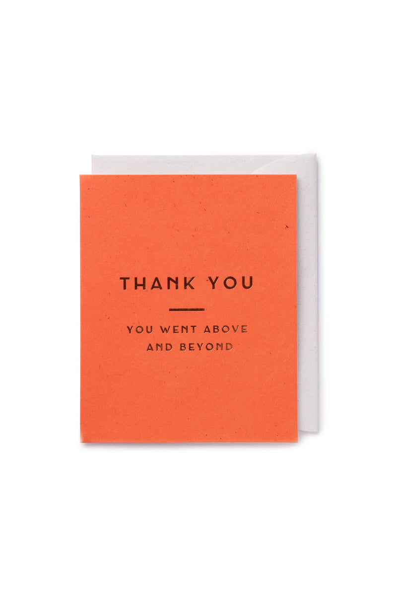 Thank You Card - Proper