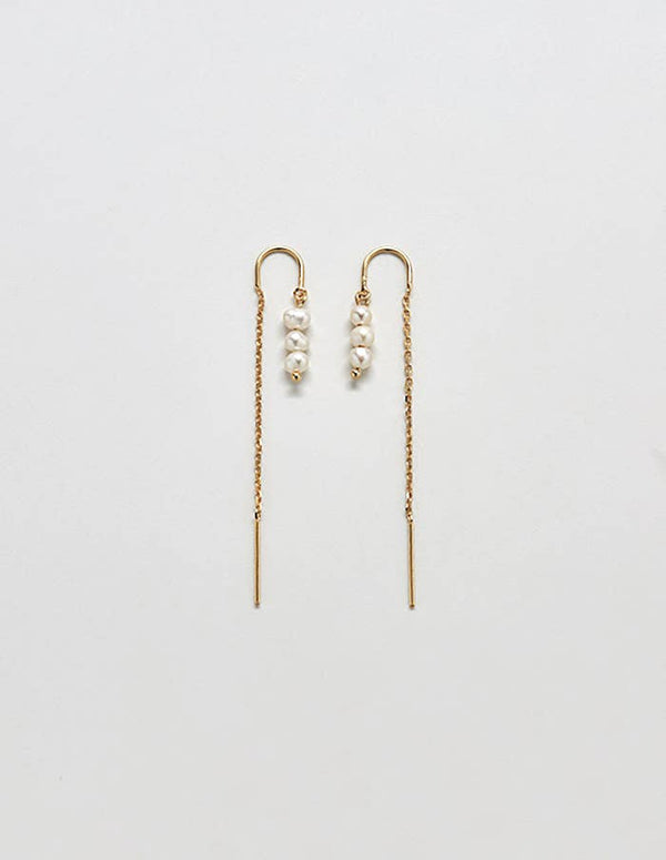 Pearl Threader Earrings - Proper-Shops