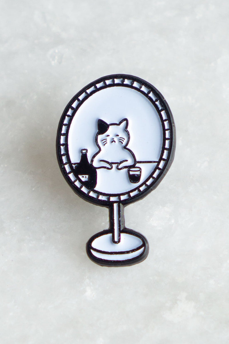 Cat Mirror Pin - Proper